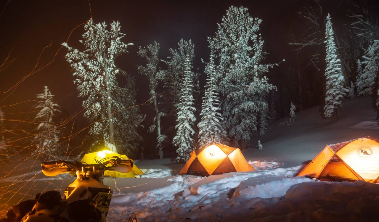 Snowbike Camping in the Idaho Wilderness
